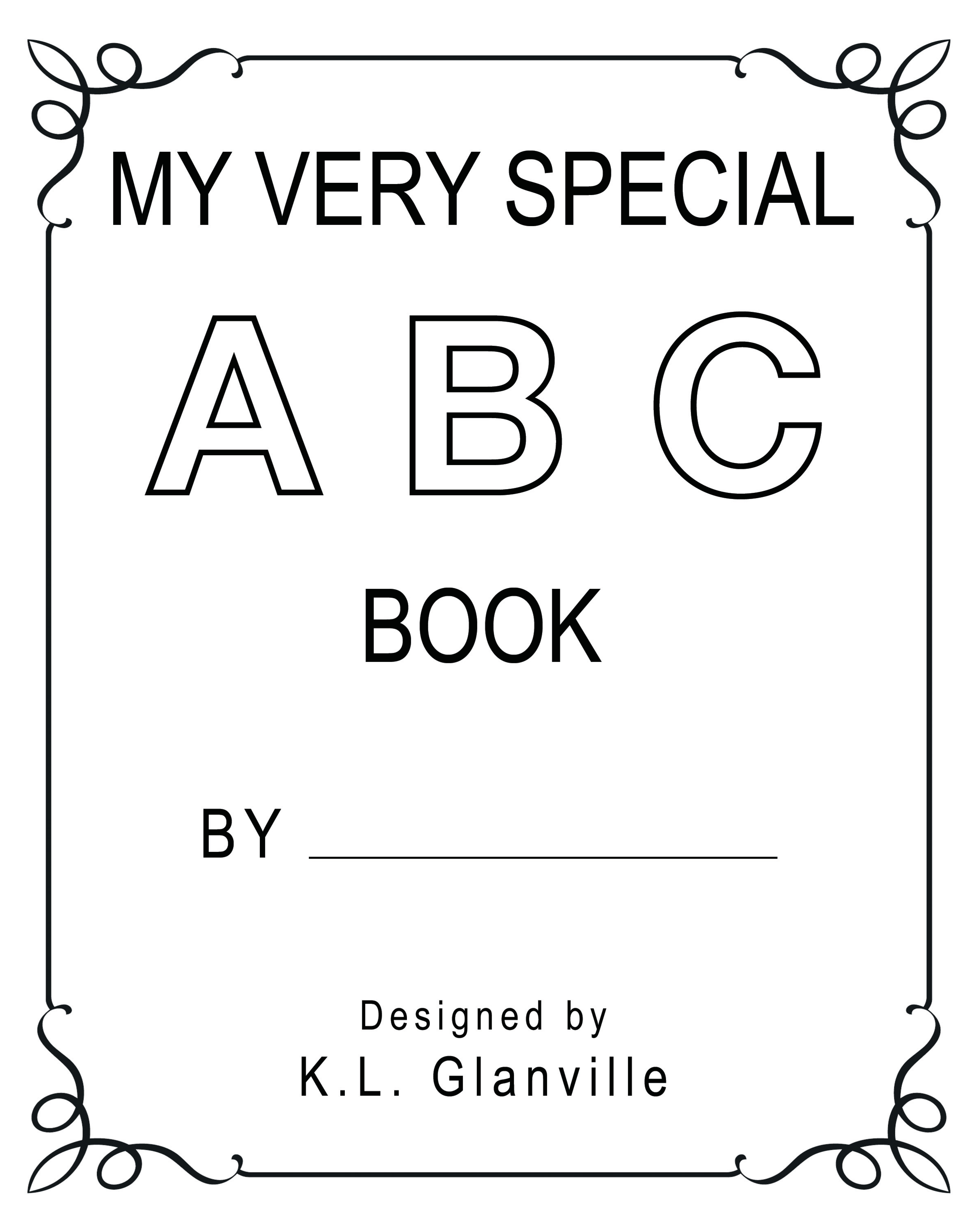Abc Book Cover Printable : My very special abc book first few pages k l glanville